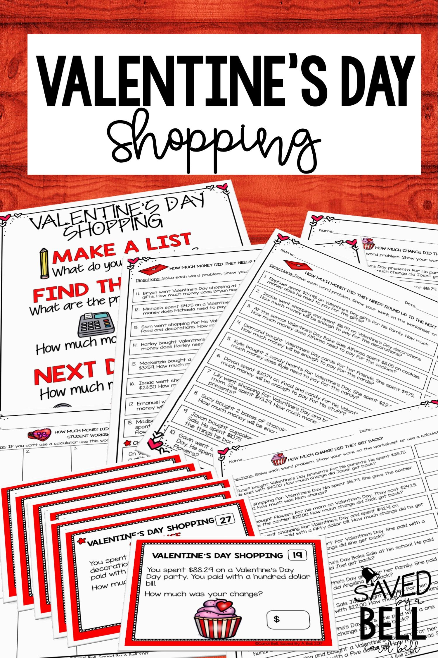 Valentine S Day Math Worksheets And Task Cards
