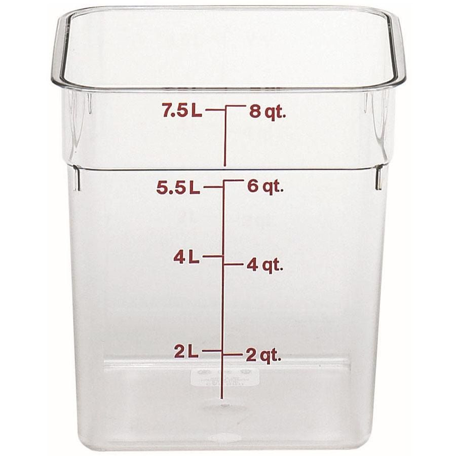 Cambro 8sfscw135 8 Qt Clear Square Polycarbonate Food Storage