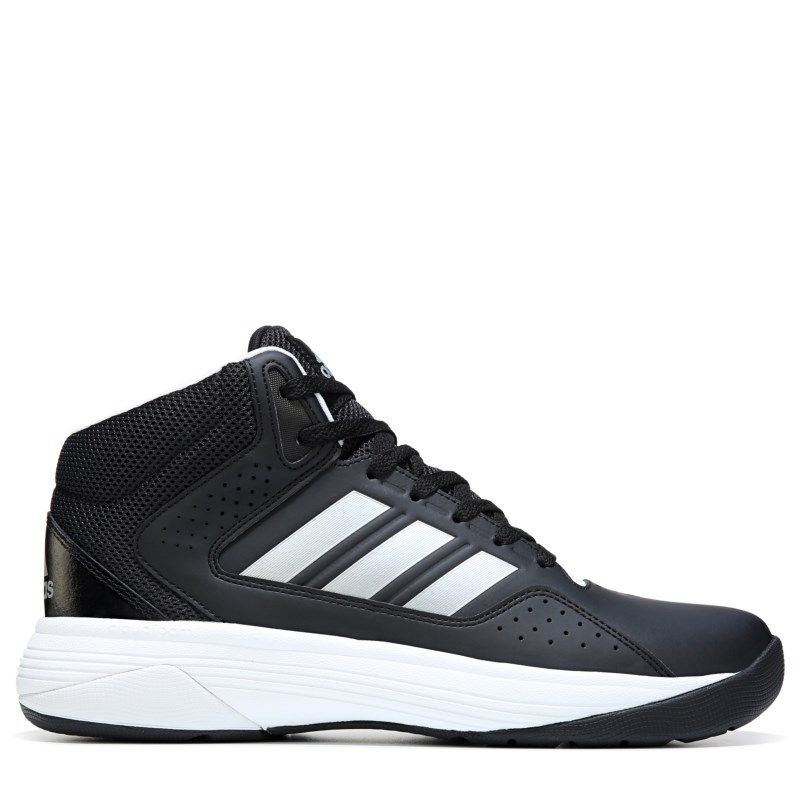 b9a171ef66c984 Adidas Men s Neo Cloudfoam Ilation Mid Wide Basketball Shoes (Black White)