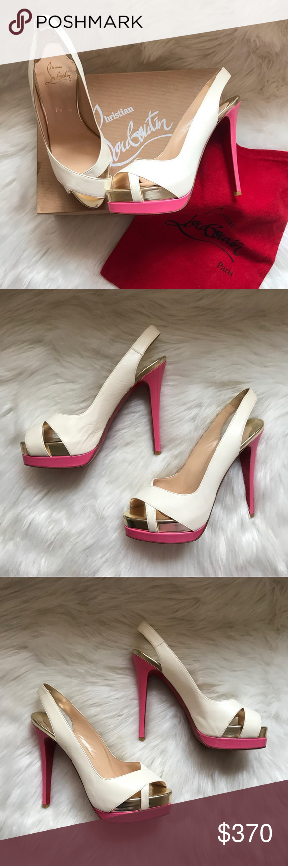 Authentic CHRISTIAN LOUBOUTIN Very Croisse Shoes A stunning