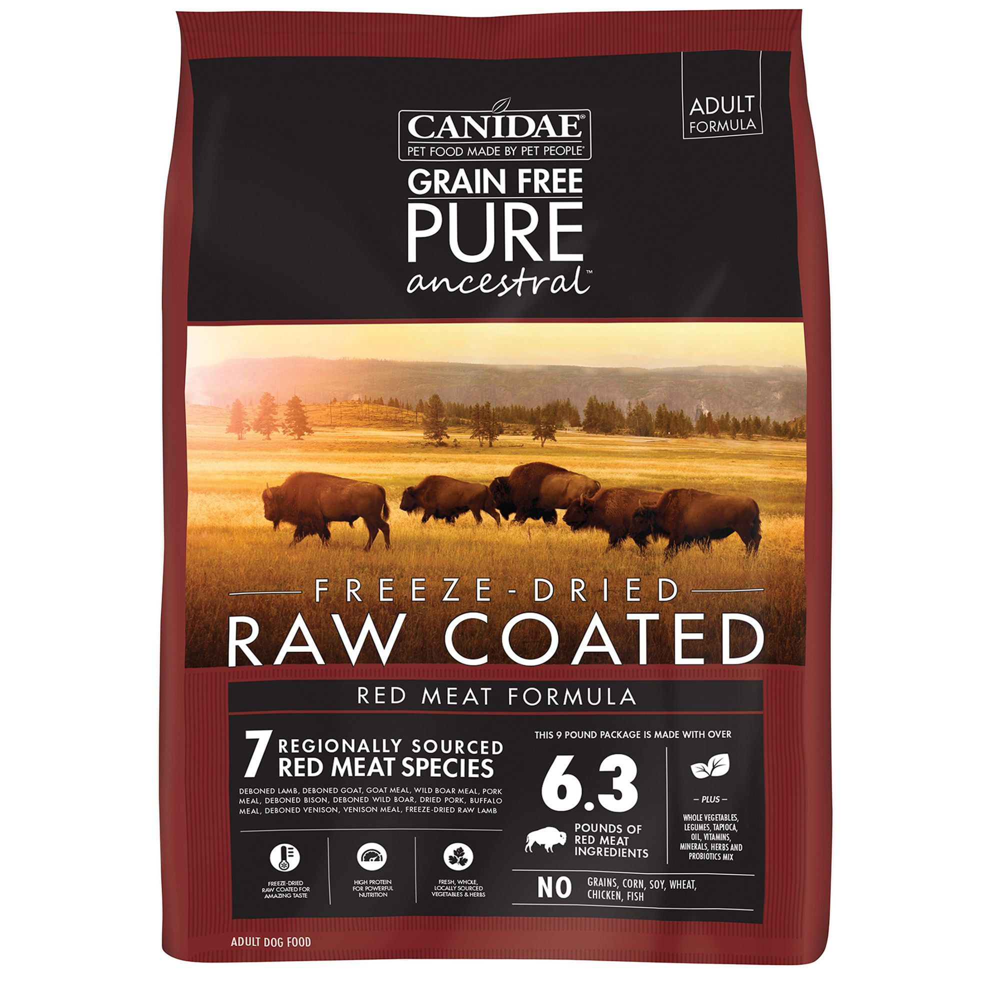 CANIDAE PURE Ancestral Diet Dog Food Raw, Natural, Grain