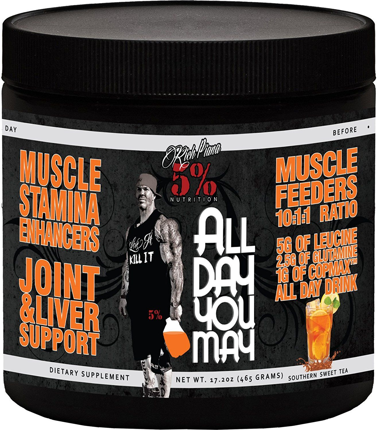 Rich Piana 5 Nutrition All Day You May Bcaa Recovery Drink Post Workout Recovery Southern Sweet Tea