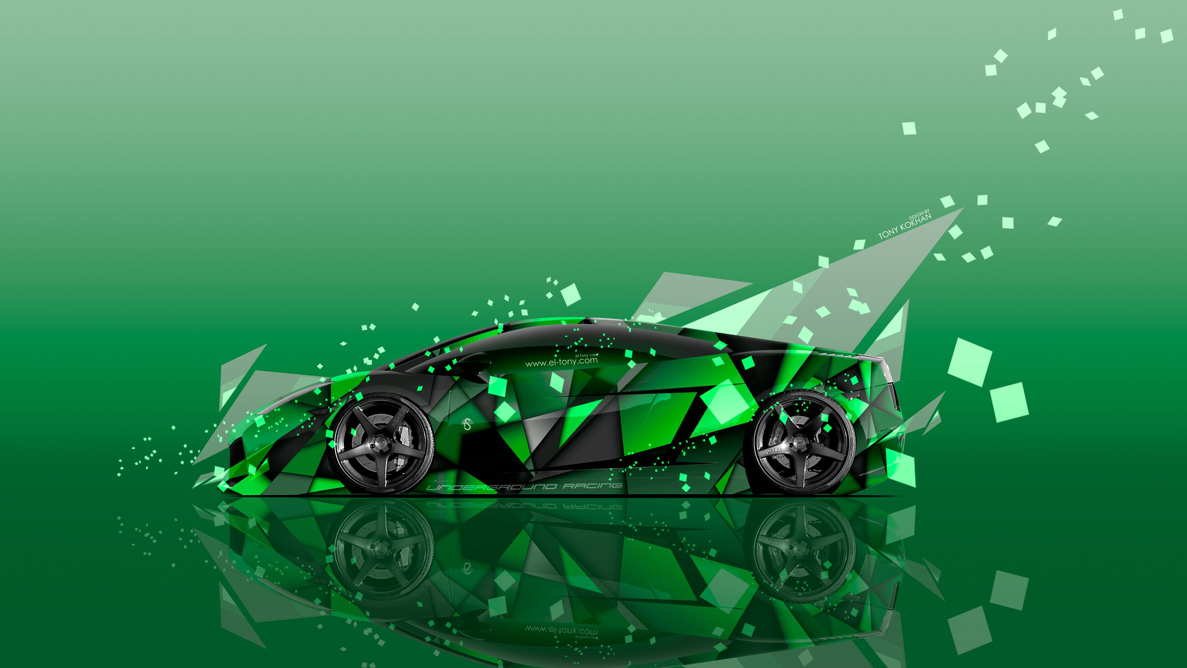 Abstract, Aerography, Angle, Black, El Tony Cars, Gallardo, Green,