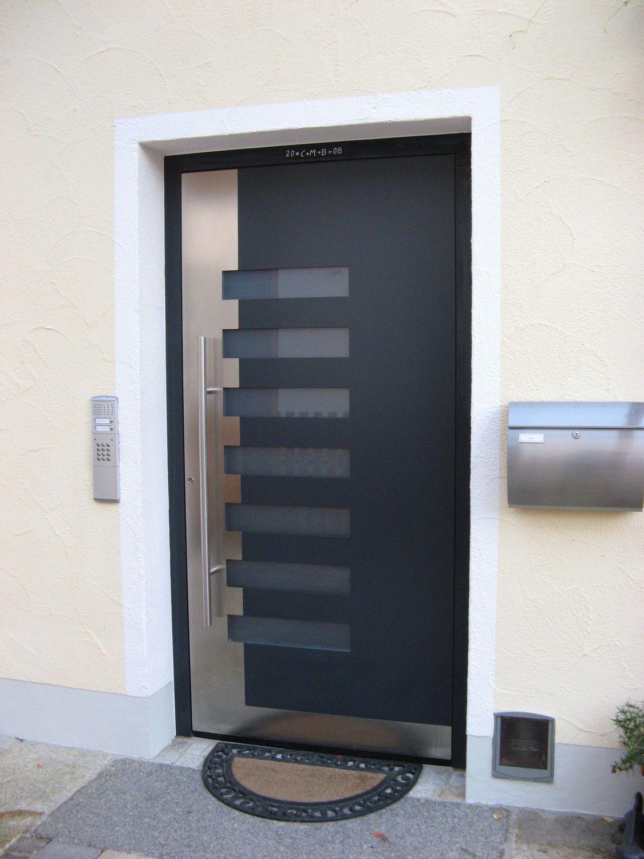Puerta de entrada batiente de aluminio para for Puerta entrada aluminio