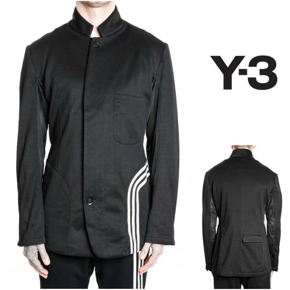 Adidas Y 3 Yohji Yamamoto Men S Fluid Blazer Ap2417 Jacket Mandarin New L 375 Available Now On Our Ebay And Amazon Shops Adidas Jackets Blazers Y3 Y 3