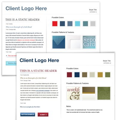 Style Tiles A Method For Establishing A Visual Vocabulary Between The Designer And The Client Rather Than Settin Web Design Web Development Design Style Tile