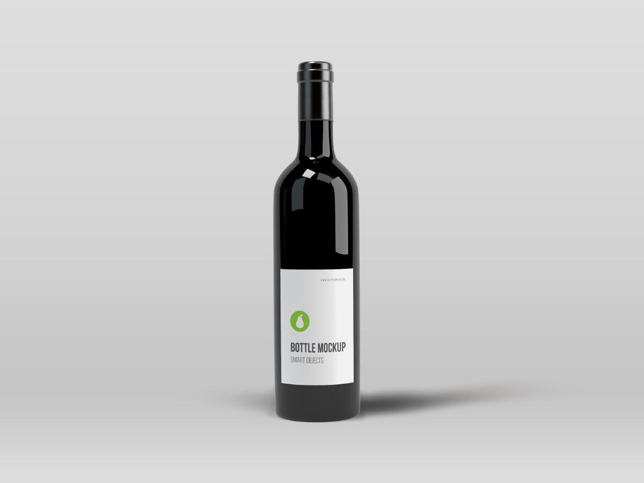 Black Bottle Mockup Graphic Pear