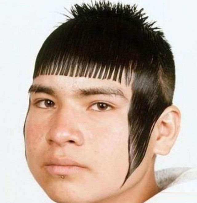 worst haircuts EVER. This is giving me traumatic 80s