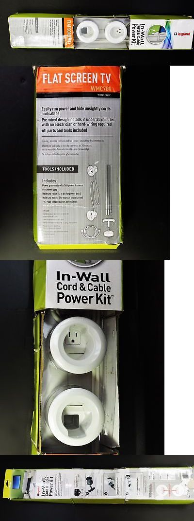 Legrand In-Wall Wiremold Cord /& Cable Power Kit WMC701 White
