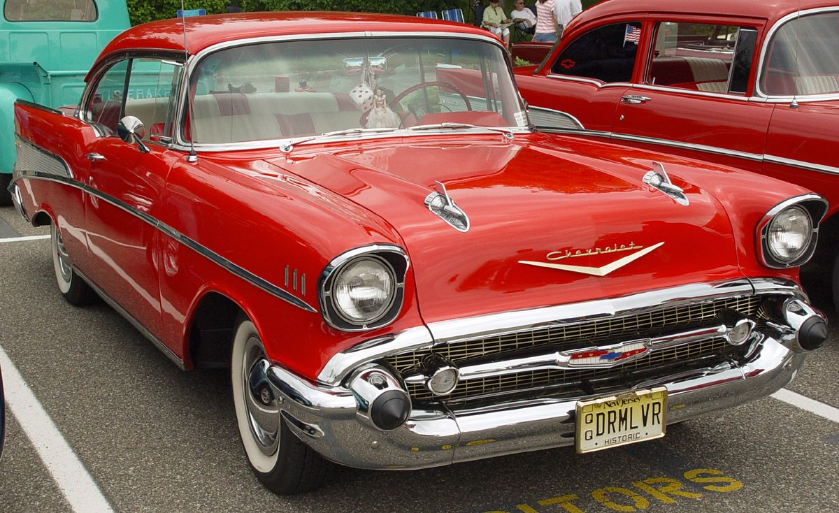 Would never be able to park this!     1957 Chevy Bel Air <3