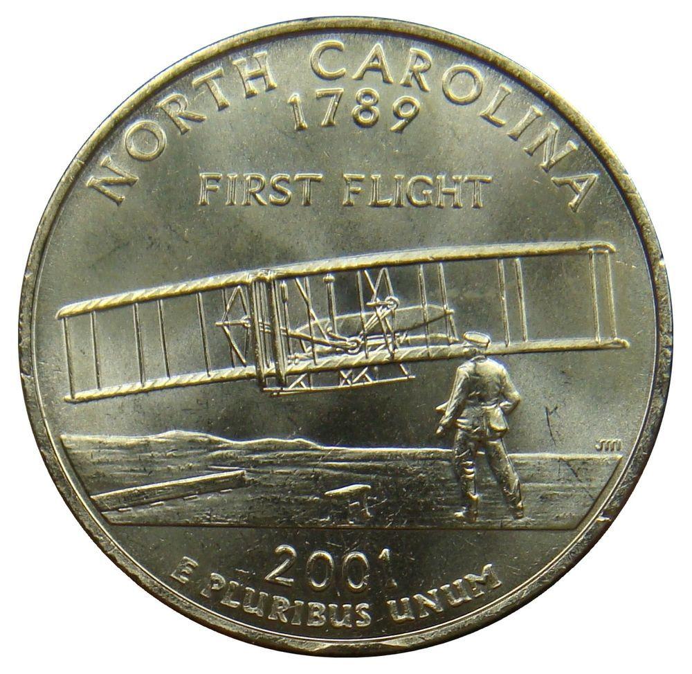 G12 Usa United States 1 4 Quarter Dollar 2001 P North