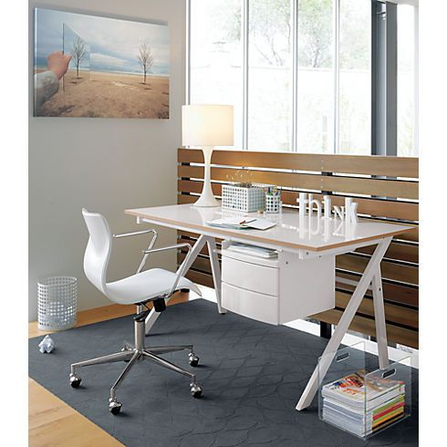 Bubble White Leather Office Chair In Office Furniture Cb2 I Like The Desk Too Modern Home Office Furniture White Leather Office Chair Office Furniture