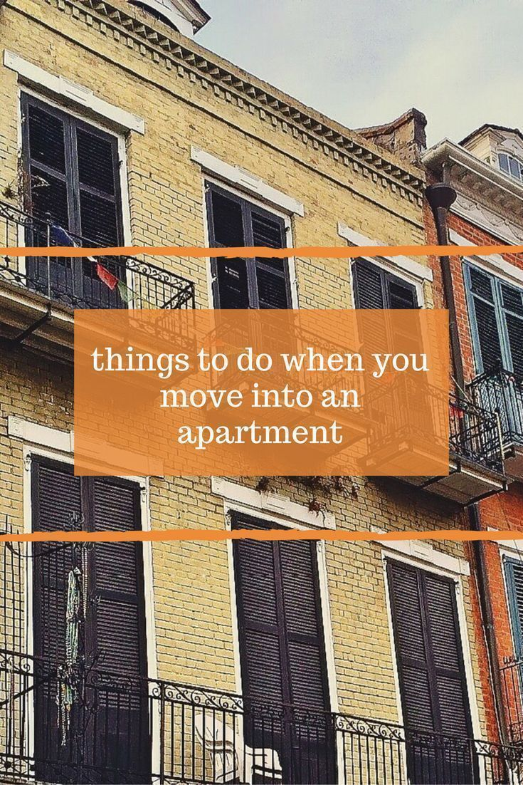 5 things to do when you move into a new apartment moving