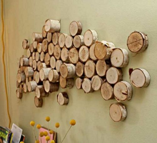innovative Wanddekoration selber machen brennholz installation - wanddekoration selber machen