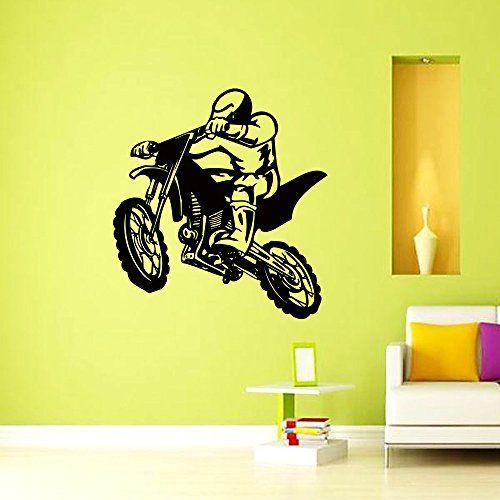 Motorbike Sticker Motocross Kawasaki Vinyl Wall Art Boys Bedroom Garage