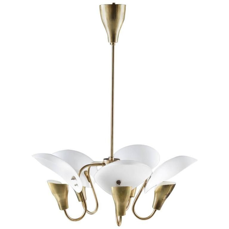 Mid century finnish chandelier in brass and glass by valinte oy mid century finnish chandelier in brass and glass by valinte oy mozeypictures Choice Image