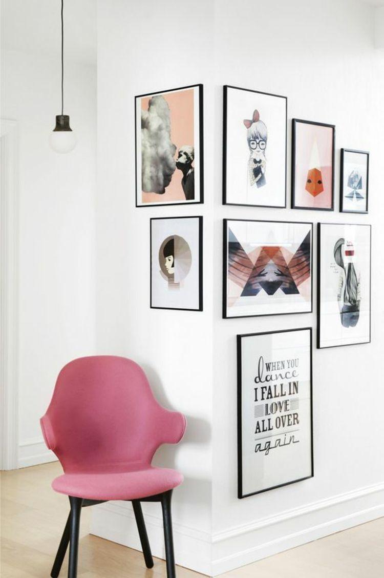 Wand Dekorieren Ecke Mit Bildern Gestalten