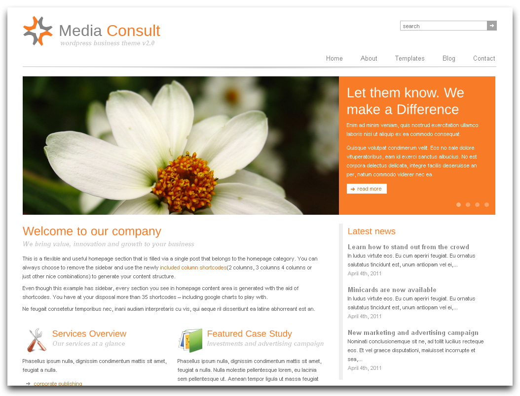 simple corporate website design clean simple corporate website ...