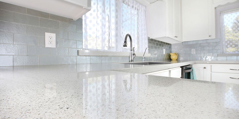 Get And Clean And Sleep White Kitchen Design Renovation Today Using Our White Star Quartz Cou Kitchen Inspiration Design White Kitchen Design Grey Countertops