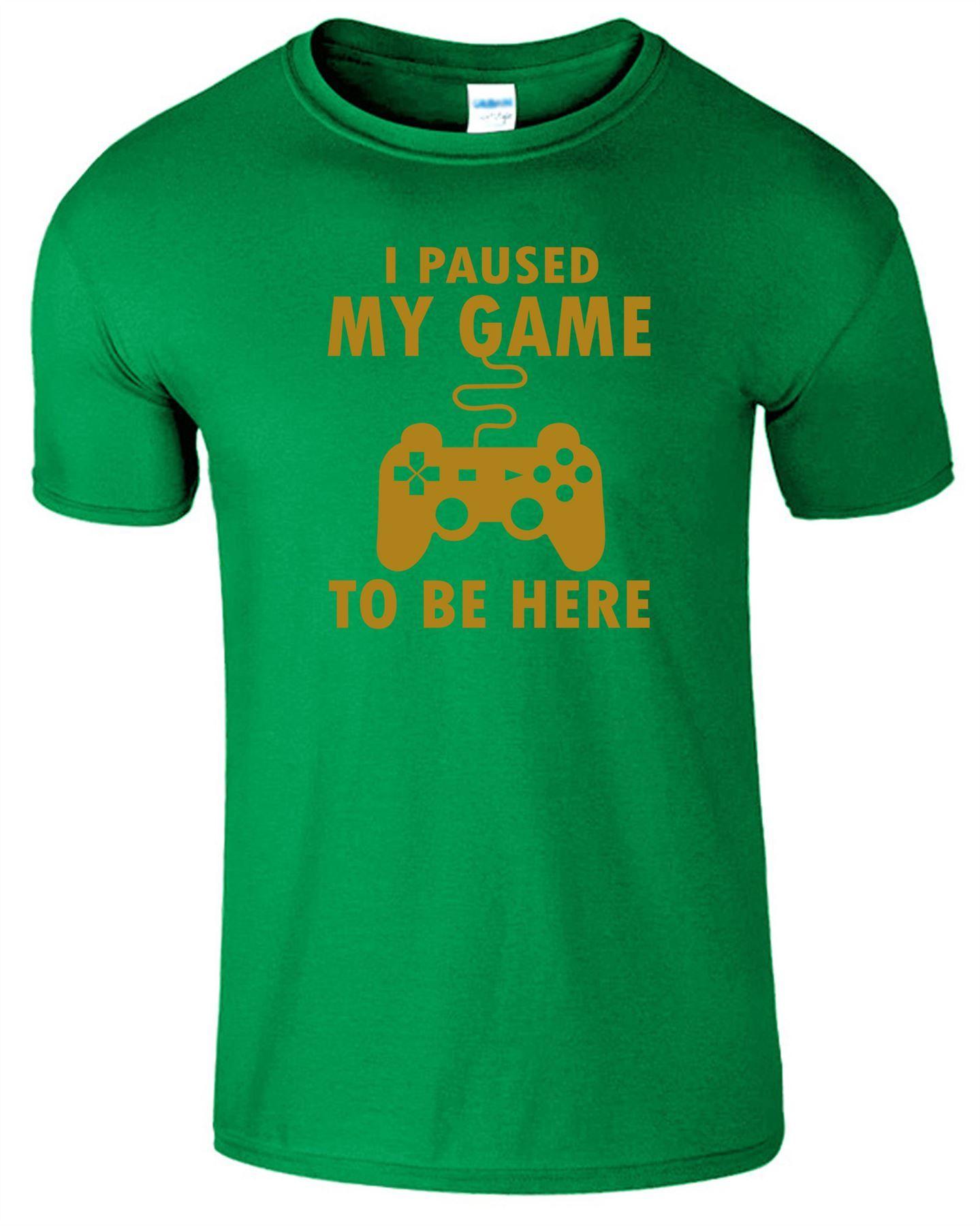 40d0a89a I PAUSED MY GAME TO BE HERE Mens T Shirt Christmas Gamer Gaming Gift Tee  Tshirt#Shirt#Christmas#Mens