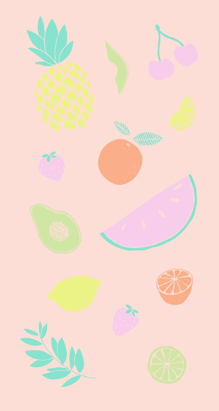 Summer Fruits Watercolor Iphone Wallpaper Home Screen Panpins Fruit Wallpaper Wallpaper Iphone Summer Watercolor Iphone