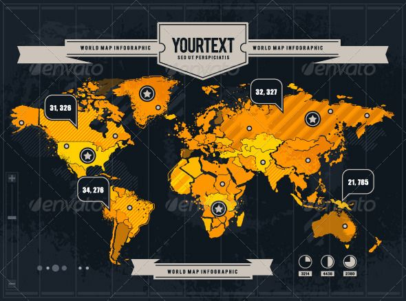 Vector world map with grunge and infographic elements infographic vector world map with grunge and infographic elements gumiabroncs Image collections