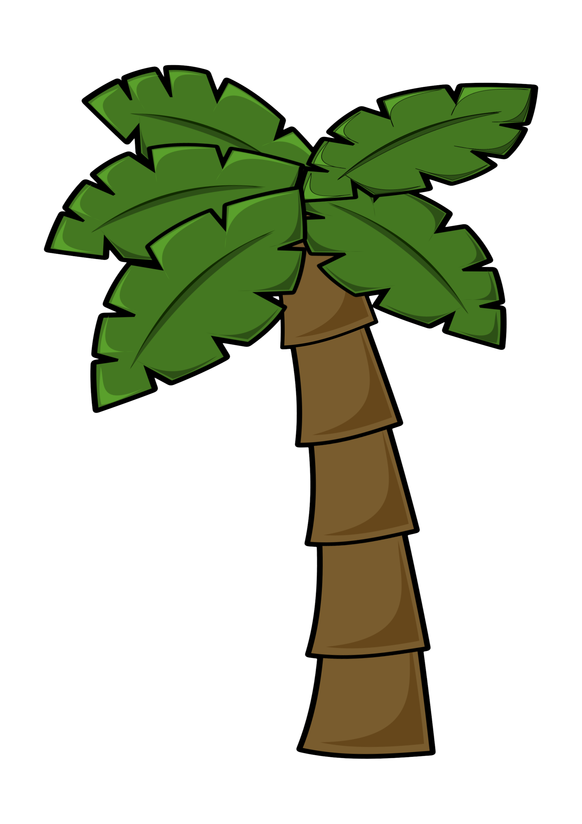 Free Simple Cartoon Palm Tree Clipart PNG And Vector Image