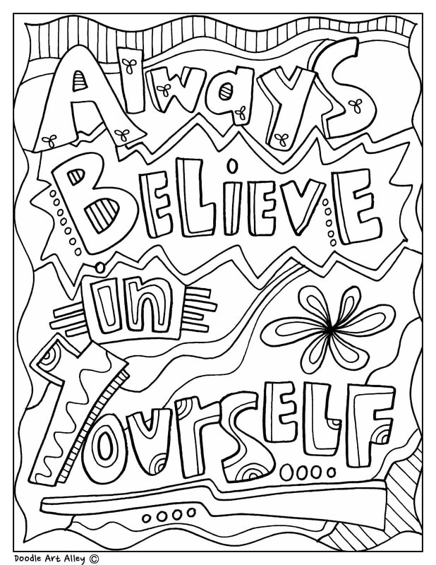 Testing Encouragement Classroom Doodles Quote Coloring Pages Coloring Pages Inspirational Coloring Pages For Kids