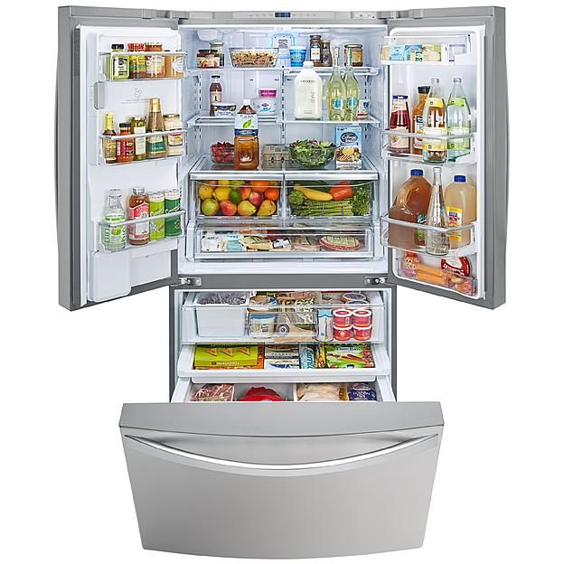Kenmore Elite 29 8 Cu Ft French Door Bottom Freezer Refrigerator 2 French Door Bottom Freezer French Door Bottom Freezer Refrigerator Bottom Freezer