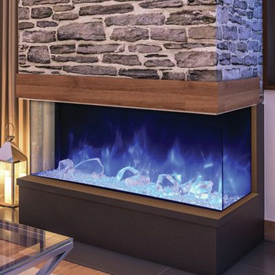 Amantii 3 Sided Built In Wall Mount Electric Fireplace Size 26 63