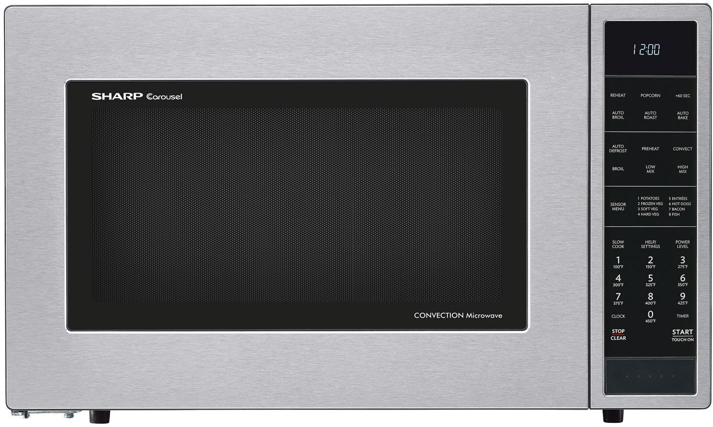 Sharp 1 5 Cu Ft Counter Top Microwave Stainless Steel Smc1585bs