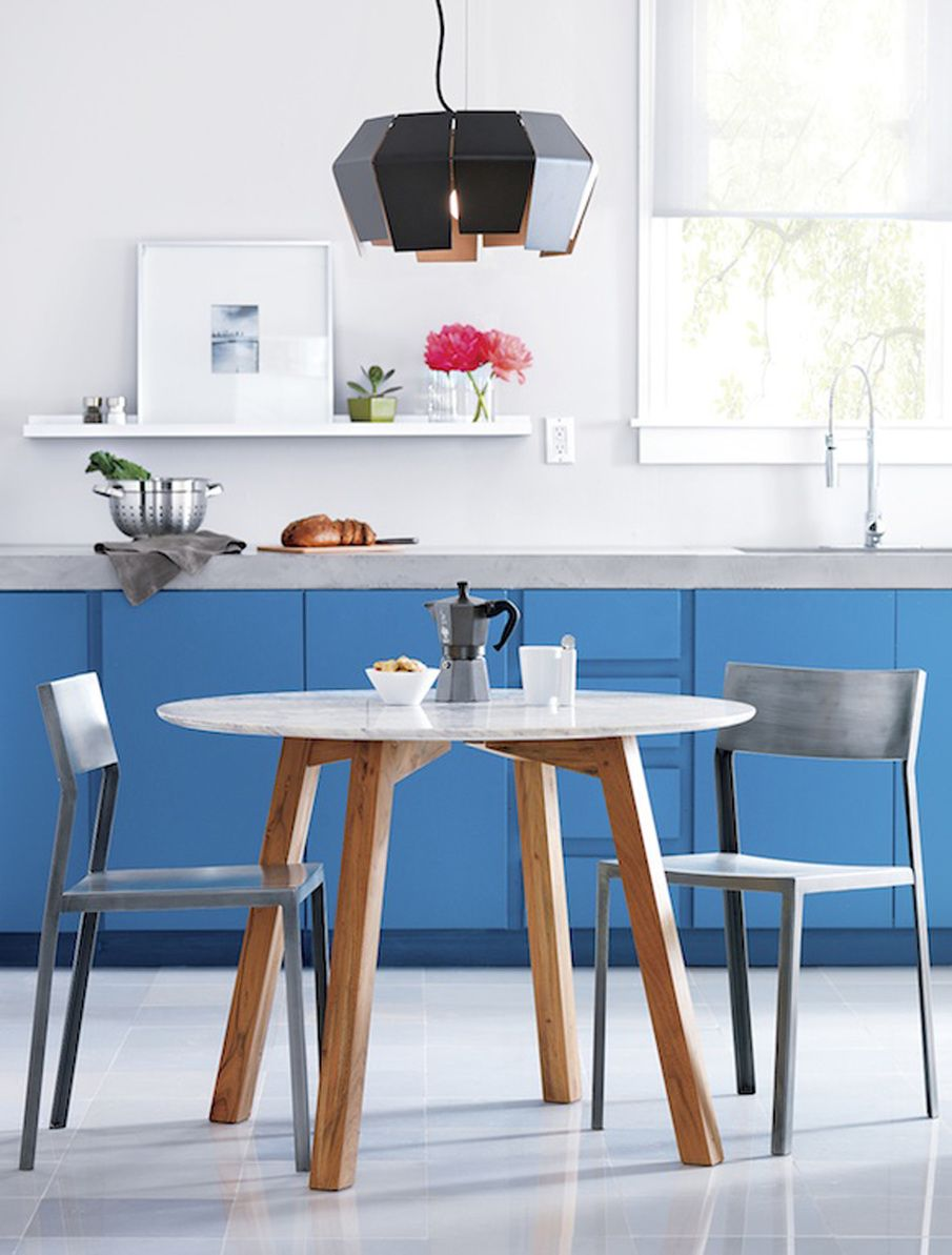 bright blue kitchen by Despina Curtis | Despina Curtis - styling ...