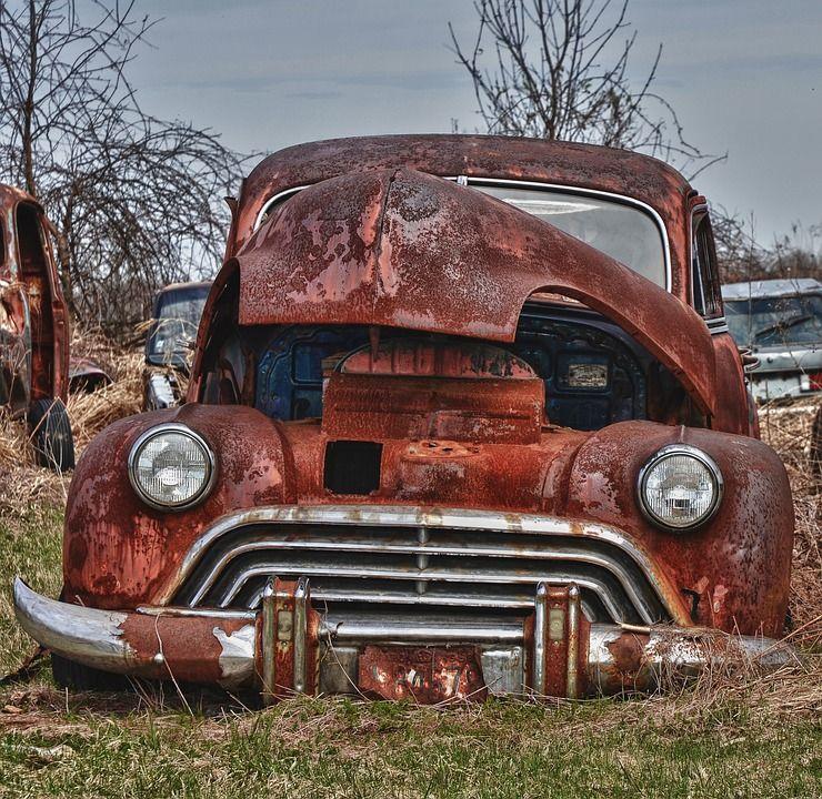 Oude Auto Auto Verroeste Voertuig Vervoer Vintage Oude Auto S Auto Voertuigen