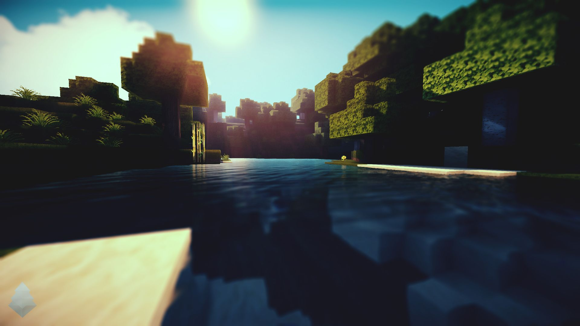 Minecraft Shaders Background
