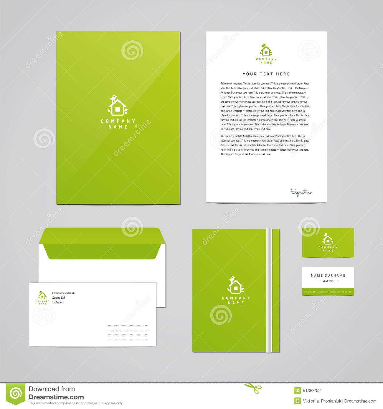corporate letterhead template royalty free stock photography ...
