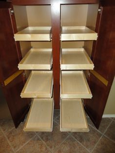Slide Out Cabinet Shelves With Images Kitchen Pull Out Drawers