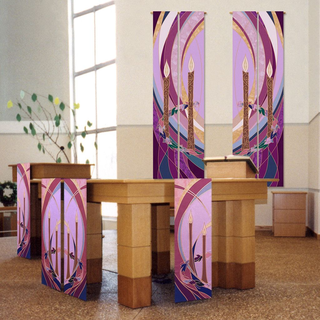 Alter Decoration: Advent Wall Hangings And Altar Scarves