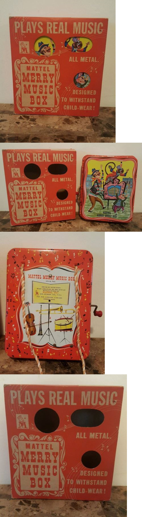 1950 toys images  Other Vintage Tin Toys  Mattel Merry Music Box Not Working