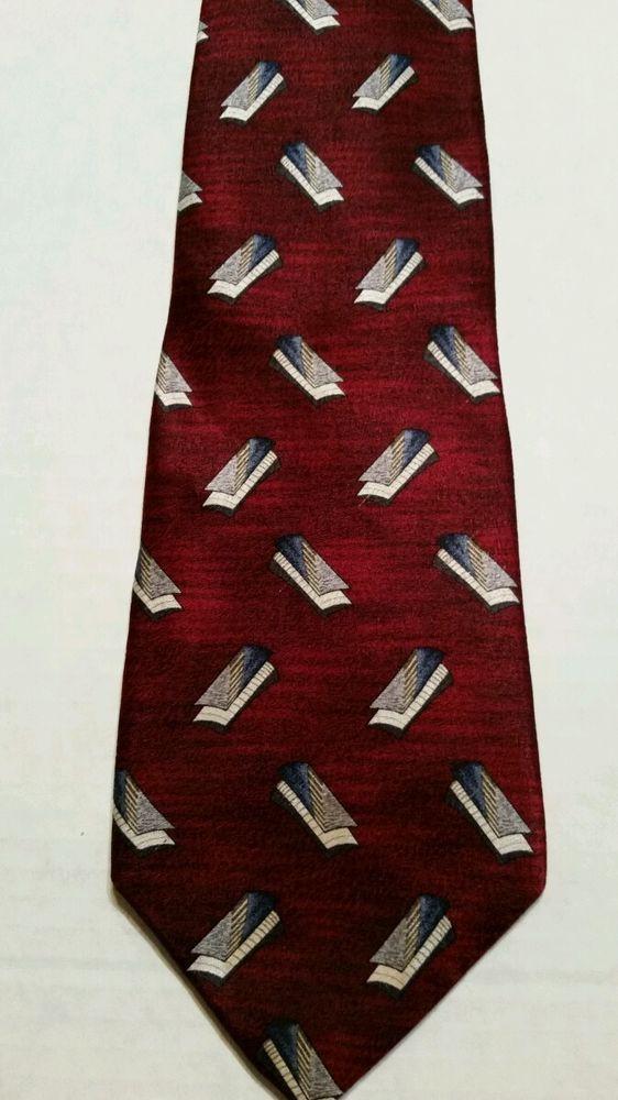 NEW Pierre Cardin  Geometric 100% Silk Multi Color Classic Mens Neck Tie #PierreCardin #NeckTie
