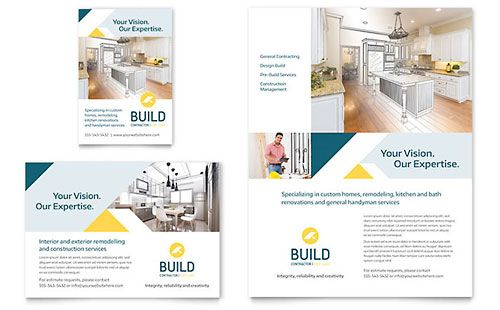 Contractor  Print Ad Sample Template  Advertisement