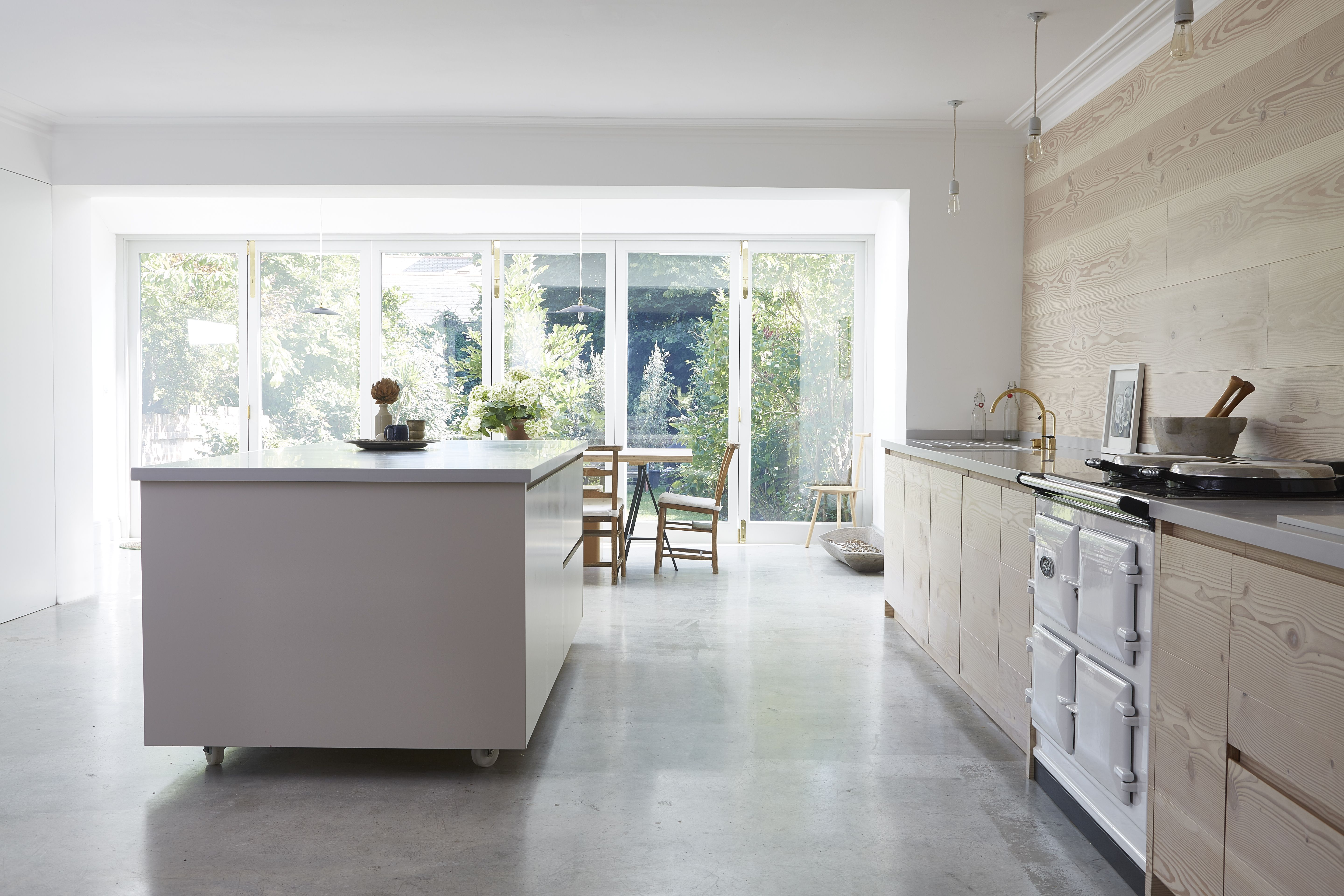 Kitchen Of The Week Scandi Serenity In A London Remodel Remodelista Kitchen Island On Wheels White Kitchen Island Island On Wheels