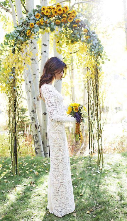 dress and sunflowers <3