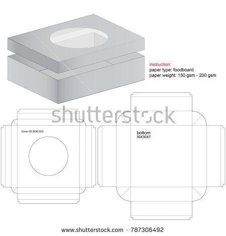 box die cut template cajas pinterest box box packaging and