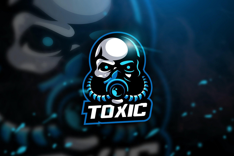 Toxic blue Mascot & Esport Logo Photo logo design