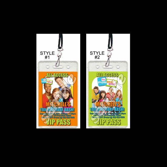 Fresh Beat Band Set of VIP Party Invitation Passes or Party Favors - fresh birthday party invitation designs