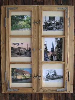 2-flügliges Fenster als Bilderrahmen selbstgemacht