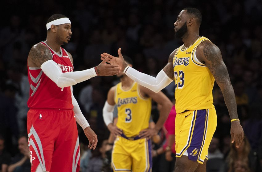 Los Angeles Lakers Carmelo Anthony Wanted To Play With Lebron James Nba Lakeshow Carmelo Anthony Lebron James Los Angeles Lakers