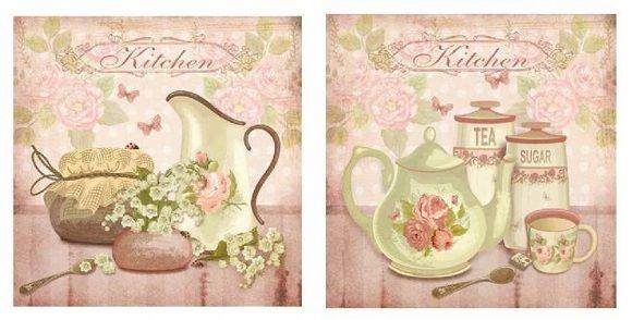 Cuadro decorativo vintage | tea and coffee time | Pinterest | Estilo ...