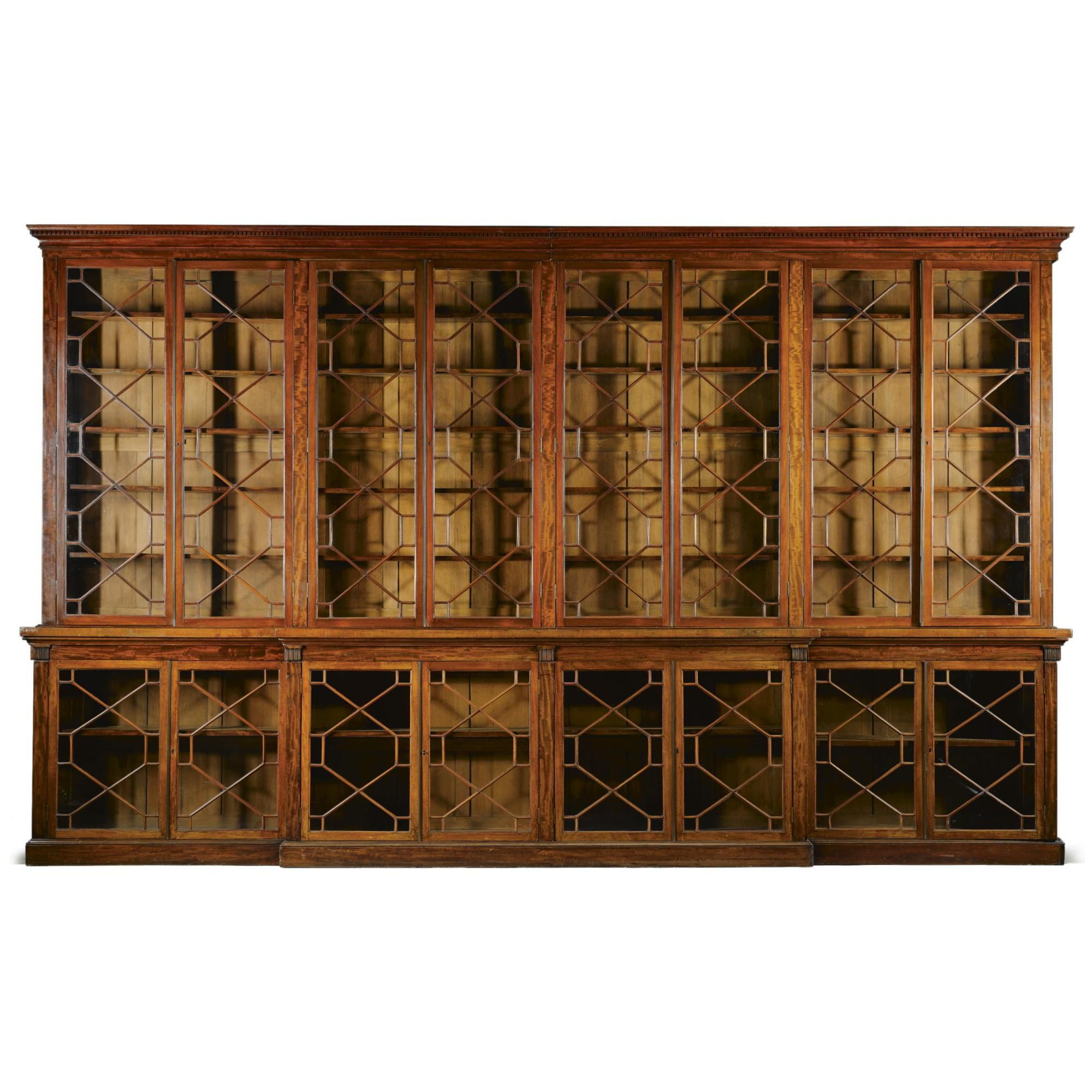 Mahogany Home Library Office: A Large Mahogany Library Breakfront Bookcase 2nd Quarter