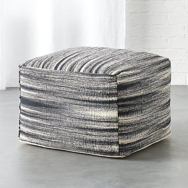 Stupendous Cb2 Nelio Pouf Moser Rugs In Living Room Floor Pouf Evergreenethics Interior Chair Design Evergreenethicsorg